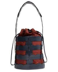 Trademark - Scallop Hesse Leather Bucket Bag - - Lyst