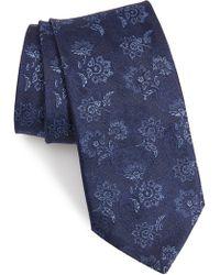 John Varvatos - Floral Silk Tie - Lyst