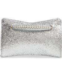 e5db668c7da Jimmy Choo - Galactica Glitter Clutch With Crystal Bracelet Handle -  Metallic - Lyst