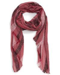 Sole Society - Stripe Knit Scarf - Lyst