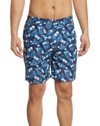72dcfad6c9036 Brooks Brothers Tropical Floral Montauk Swim Trunks in Blue for Men - Lyst