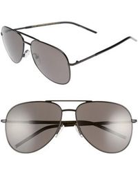 Marc Jacobs | 59mm Gradient Polarized Aviator Sunglasses | Lyst