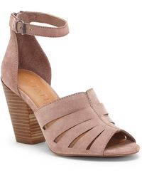 1.STATE - Nallay Block Heel Sandal - Lyst
