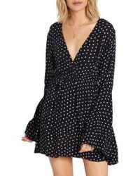 Billabong - Night Fever Bell Sleeve Dress - Lyst