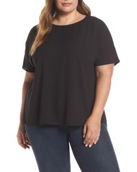 Vince Camuto - Pleat Back Hammered Satin Top - Lyst