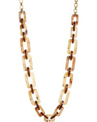 Lafayette 148 New York - Wood Square Link Necklace - Lyst