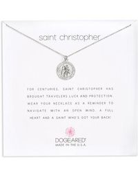 Dogeared - St. Christopher Pendant Necklace - Lyst