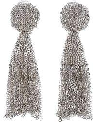 Oscar de la Renta - 'classic Short' Tassel Chain Drop Earrings - Lyst