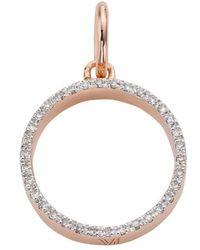 Monica Vinader - Naida Open Circle Diamond Pendant - Lyst