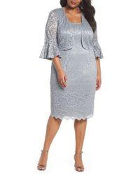 Alex Evenings - Lace Sheath Dress With Bolero Jacket - Lyst