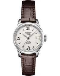 Tissot - Le Locle Automatic Lady Leather Strap Watch - Lyst