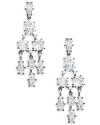 Nadri Cardamom Chandelier Earrings in Metallic | Lyst