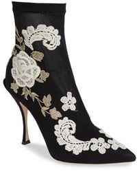 Dolce & Gabbana - Floral Sock Bootie - Lyst