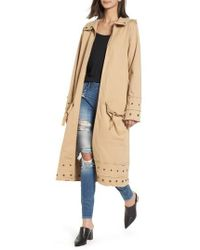 True Religion - Snap Detail Trench Coat - Lyst