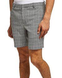TOPMAN - Plaid Print Shorts - Lyst