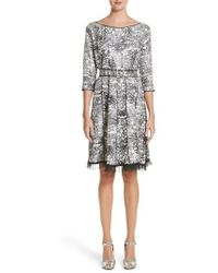 Marc Jacobs - Squiggle Print Gored Dress - Lyst