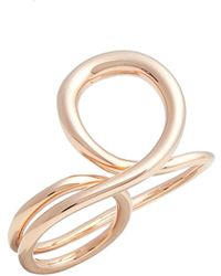 Charlotte Chesnais - 'gamma Trip' Vermeil Two-finger Ring - Lyst
