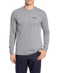 Patagonia - Long Sleeve Fitz Roy Trout Responsibili-tee - Lyst