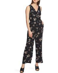 1.STATE - Floral Belle Wrap Front Jumpsuit - Lyst
