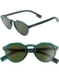 b00920523781 Lyst - Burberry Sunglasses Be 4208qf 300273 Dark Havana in Brown