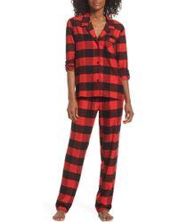 Nordstrom - Lingerie Starlight Flannel Pajamas - Lyst