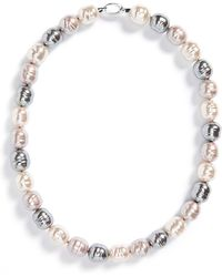 Majorica - 14mm Baroque Pearl Necklace - Lyst