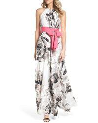 Eliza J - Chiffon Maxi Dress - Lyst