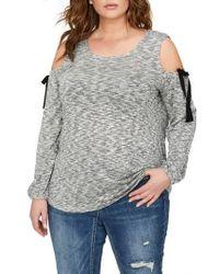 Addition Elle - Cold Shoulder Top - Lyst