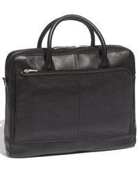 Bosca - Slim Leather Briefcase - - Lyst