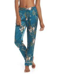 Maison Du Soir - Alexandra Silk Pajama Pants - Lyst