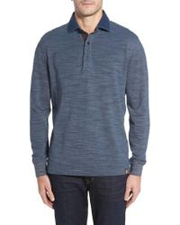 Thaddeus | Patton Space Dyed Long Sleeve Polo | Lyst