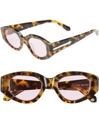5ffd884a7a2f Karen Walker Alternative Fit Super Lunar - Arrowed By Karen 50mm Sunglasses  - Crazy Tortoise/ Gold - Lyst
