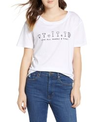 Project Social T - Love All Sizes Tee - Lyst