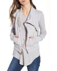 Frank & Eileen - Asymmetrical Zip Fleece Jacket - Lyst