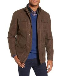 W.r.k. - 3-in-1 Waxed Cotton Jacket With Removable Vest - Lyst
