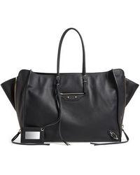 Balenciaga - Balenciaga Papier A4 Zip Around Leather Tote - Lyst