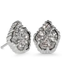 780d3743d Kendra Scott Tessa Stone Stud Earrings in Metallic - Lyst