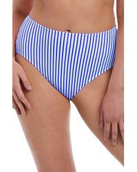 Freya - Totally Stripe High Waist Bikini Bottoms - Lyst