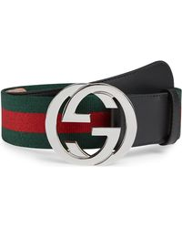 Gucci Web Belt And Gg Buckle