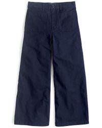 J.Crew - J.crew Point Sur Washed Wide Leg Crop Pants - Lyst