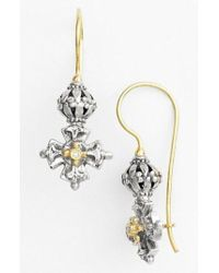Konstantino - 'classics' Diamond Maltese Cross Drop Earrings - Lyst