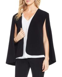 Vince Camuto | Milano Twill Cape Jacket | Lyst