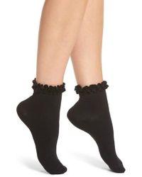 Chelsea28 - Velvet Trim Crew Socks - Lyst