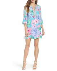 Lilly Pulitzer - Lilly Pulitzer Elenora Floral Embellished Silk Dress - Lyst