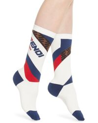 Fendi - X Fila Mania Logo Socks - Lyst