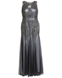 Decode 1.8 - Beaded Godet Mesh Trumpet Gown - Lyst