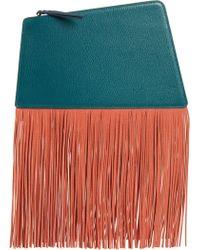 39a7e46c193 Saint Laurent Le Sept Chain-fringe Clutch Bag in Black - Lyst