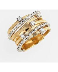 Marco Bicego - Goa Diamond Tri Tone Ring - Lyst