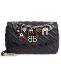 Balenciaga - Medium Bb Round Logo Charm Crossbody Bag - - Lyst