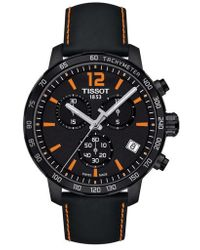 Tissot - Quickster Chronograph Leather Strap Watch - Lyst